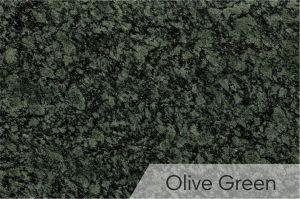 Kapų tvarkymas - kapū plokštės - granitas - Olive Green