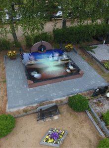 Stikliniai 3D Antkapiai - kapų tvarkymas - dangus