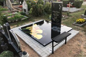 Stikliniai 3D Antkapiai - kapų tvarkymas - geltonos kalijos 2