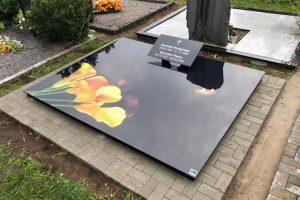 Stikliniai 3D Antkapiai - kapų tvarkymas - geltonos kalijos 3