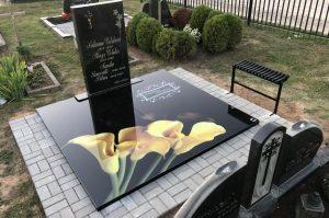 Stikliniai 3D Antkapiai - kapų tvarkymas - geltonos kalijos