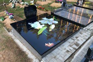 Stikliniai 3D Antkapiai - kapų tvarkymas - lelija 2