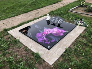 Stikliniai 3D Antkapiai - kapų tvarkymas - orchidėja 2