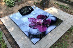 Stikliniai 3D Antkapiai - kapų tvarkymas - orchidėja