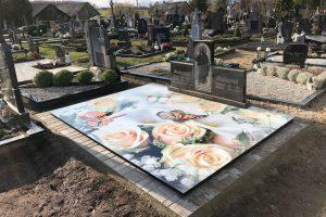 Stikliniai 3D Antkapiai - kapų tvarkymas - rožės 2